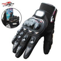 Motorcycle Gloves Four Seasons racing locomotive touch screen anti-slip full finger knight equipped with breathable half finger gloves