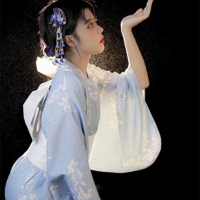 神明少女和服套装日式拍照服装女日系艺术照孕妇写真衣服浴衣和风