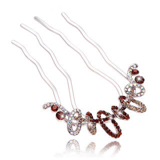 Package mail H054 good hair Korea jewelry rhinestone hair comb hair and plug accessories