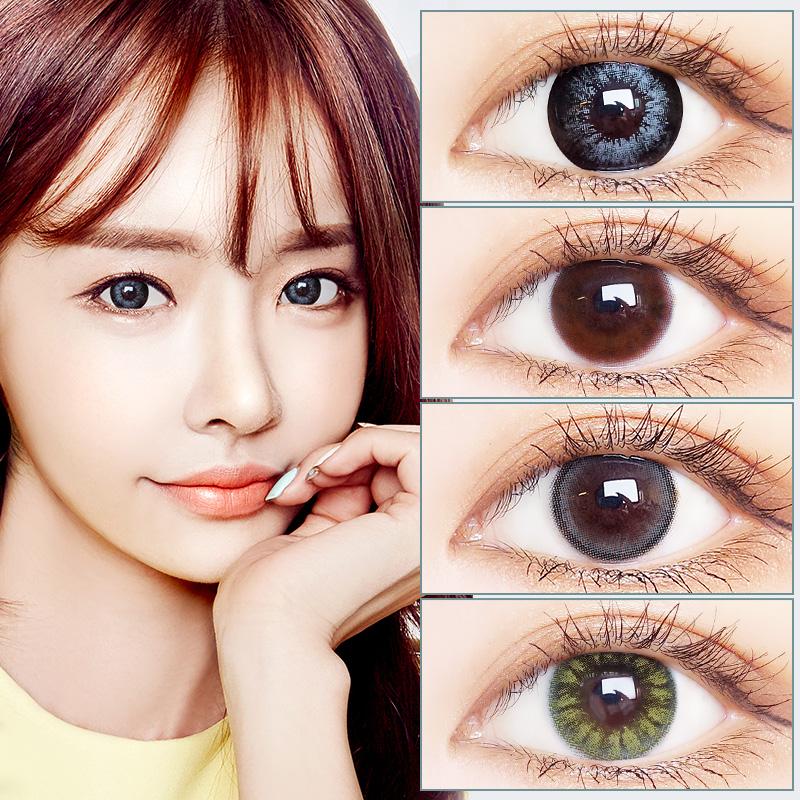 2片装混血蓝绿色美瞳网红同款大小直径年抛韩国女隐形眼镜艾魅JL
