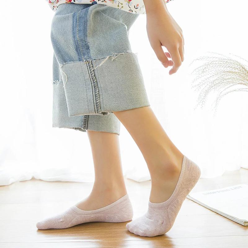 船袜女纯棉浅口硅胶防滑隐形袜夏季薄款糖果色女士全棉低帮短袜子