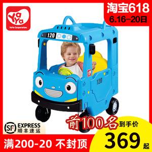 韩国雅雅yaya儿童小房车滑行学步车四轮手推踏行童车男孩游乐玩具