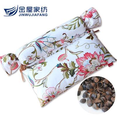 颈椎枕 糖果枕护颈枕草花枕腰部枕头枕芯荞麦枕方枕圆枕