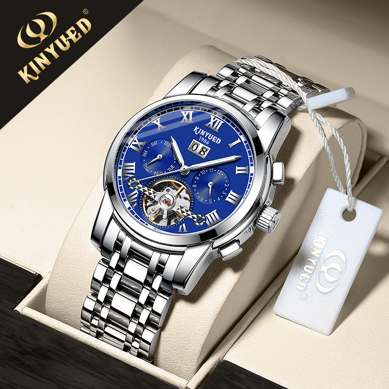 Kinyued jinyueda stainless steel belt Tourbillon fully automatic mechanical watch