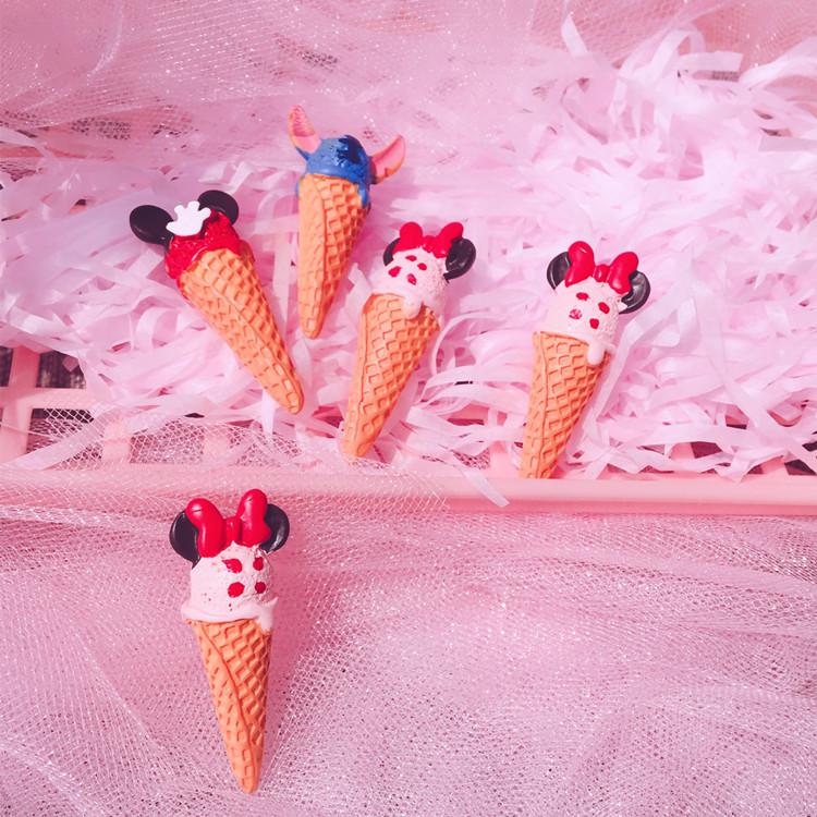 BJD6分娃娃道具 米奇蛋筒冰淇淋 仿真娃娃拍照道具娃娃玩具