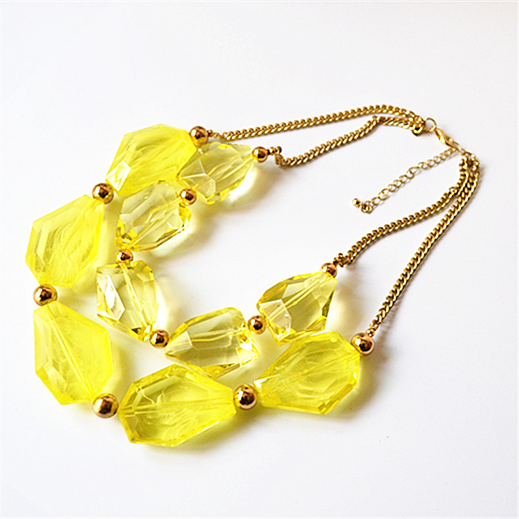 Japanese and Korean version of foreign trade jewelry simple hot geometric small fresh Necklace clavicle chain multi layer versatile women