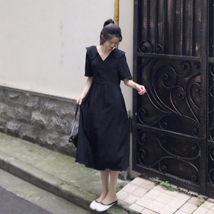 39.90元包邮胖妹妹遮肚子法国小众减龄连衣裙