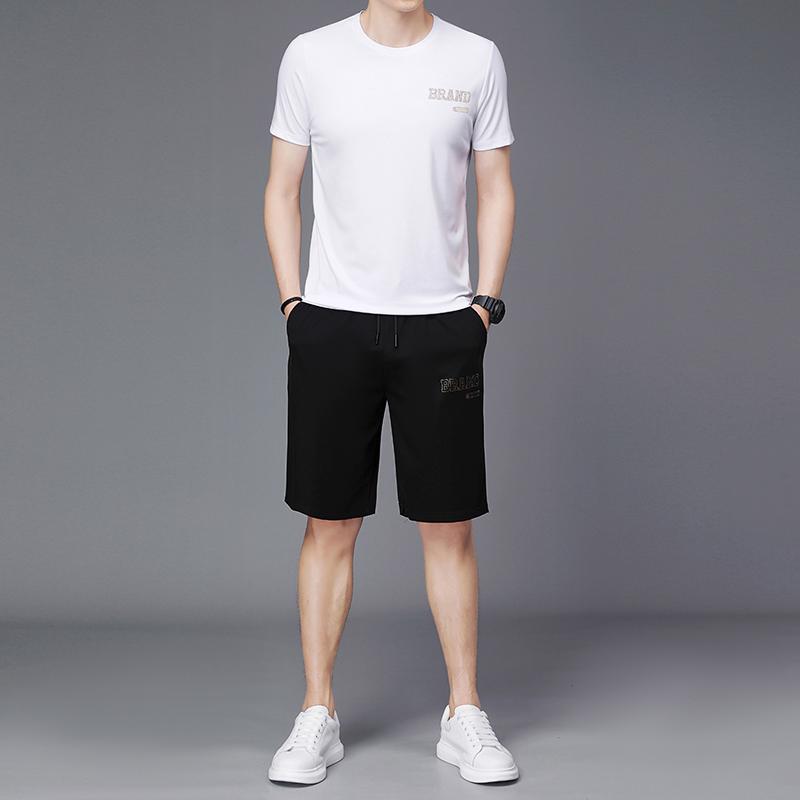 21夏款男士运动休闲短袖短裤圆领套装AW5704 P110