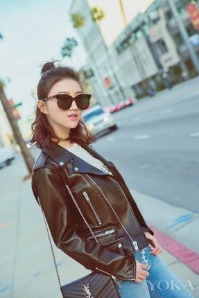 【参考评价】Leather Jacket  S@ 机车鼻祖 意大利羊皮女士皮衣
