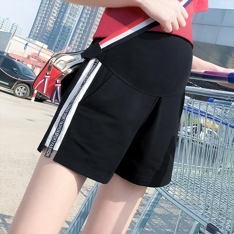 孕妇短裤夏季时尚外穿夏装天孕妇裤子薄款休闲运动托腹宽松打底裤图片