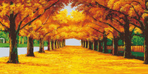763 Poster printed Display board photo material 285 Golden Boulevard oil painting landscape decoration painting 1