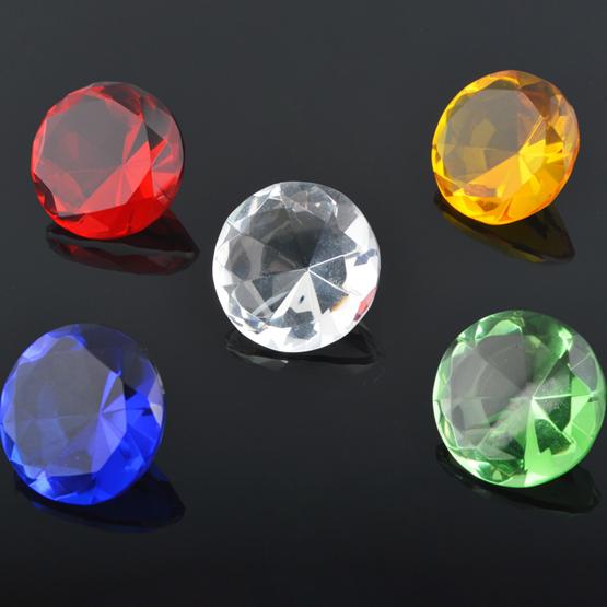 隽先 人造5色透明水晶玻璃钻石 白/黄/红/蓝/绿色小袖珍钻宝石