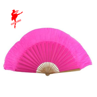 Red Shoes Tail 1 foot silk fan dance fan Younger fan performance fan dancing Square Dance 9002