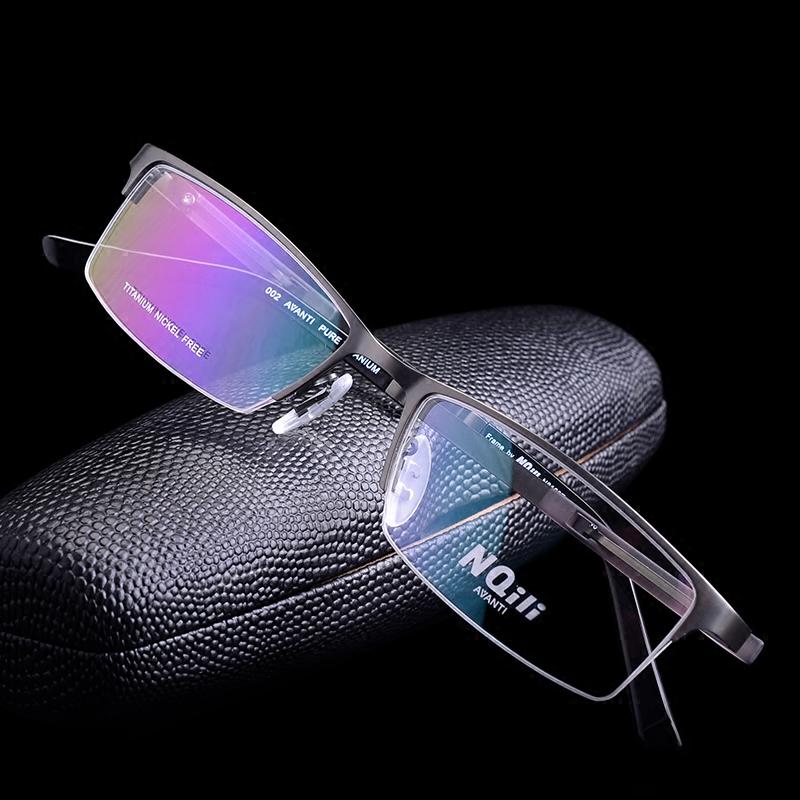 新款眼镜框男款超轻眼睛半框钛架时尚近视镜年轻精品纯钛眼镜架