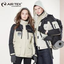 亚特两件套冲锋衣男韩国潮牌滑雪服女三合一可拆卸防水防风登山服