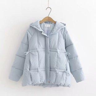 連帽棉襖女2019新款韓版寬鬆加厚棉服冬季學生ins麪包服棉衣外套