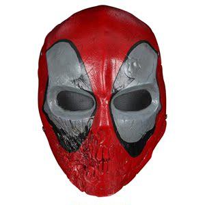 领10元券购买盛泉 电影主题动漫Deadpool死侍道具装扮树脂面罩cosplay面具表演