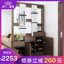 Simple modern living room shoe cabinet Xuan Guan partition cabinet Nordic screen partition entrance door Guan Cabinet Hall cabinet wine cabinet