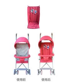 婴儿推车棉垫伞车防驼背坐垫靠垫保暖垫宝宝车加板垫 童车配件
