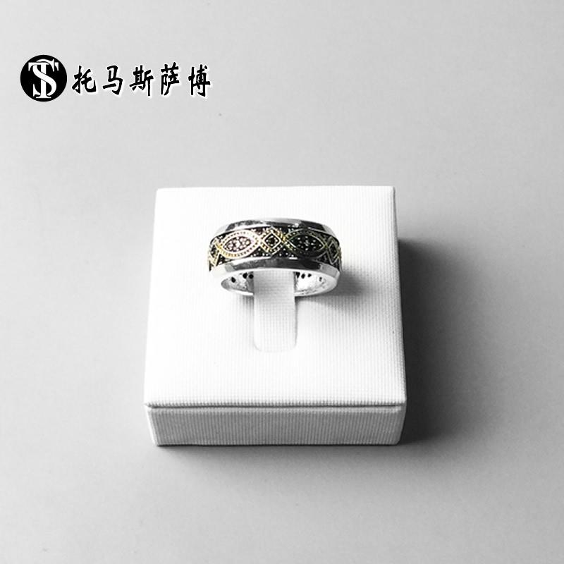 金色永恒爱之结戒指环-托马斯萨博个性蹦迪首饰品 love knot ring