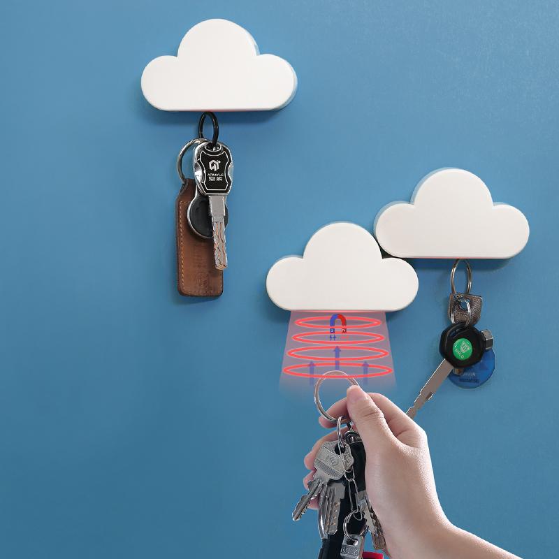11-08新券创意家用钥匙挂钩壁挂免打孔宿舍墙上收纳可爱挂钩魔力贴强力粘胶