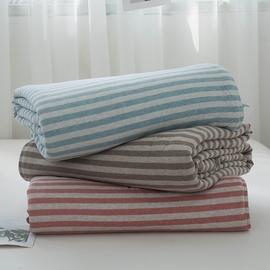 日式全棉针织棉空调被天竺棉夏凉被四件套双人学生纯棉单人薄被子
