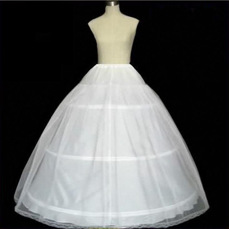 Bridal Wedding dress skirt support three circles 1 gauze hard mesh awning skirt inner lining elastic waist petticoat female
