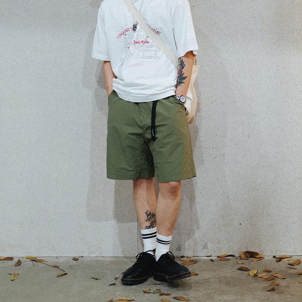 SUPERTOFU (SPTF) 自带腰带速干面料潮流工装户外休闲宽松短裤