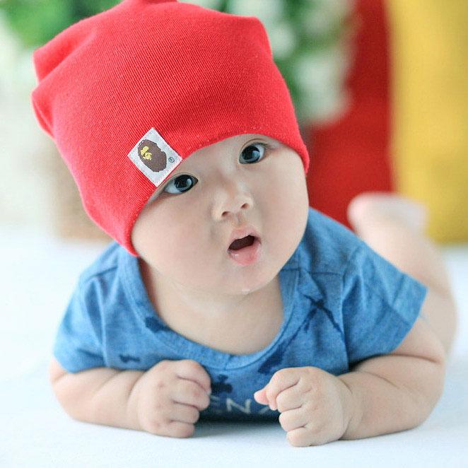 Детские шапки детей новорожденных детей мальчиков и девочек весной и осенью младенческой корейской версии потоков в лето 1-2