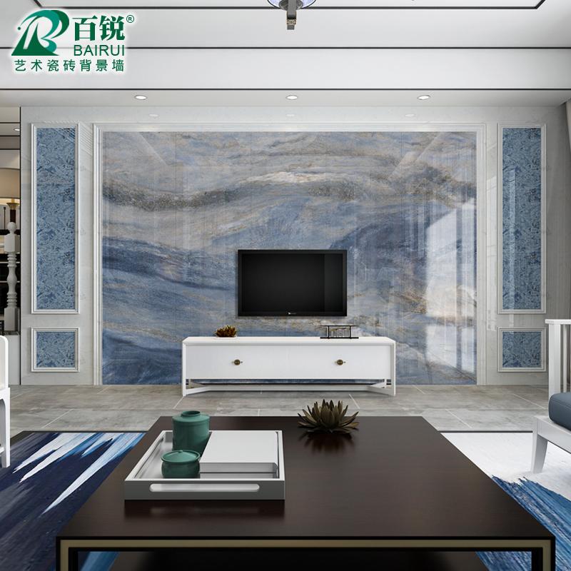 欧式蓝金沙电视背景墙3d微晶石瓷砖券后320.00元