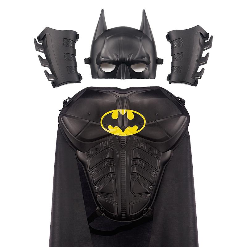 Хэллоуин детские Бэтменские игрушки комплект Спецодежда на мальчика Плащ маски плащ может носить черный броневой