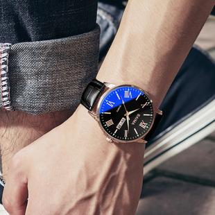 2019新款正品牌名牌商务石英男士手表国产学生全自动机械男表瑞士品牌