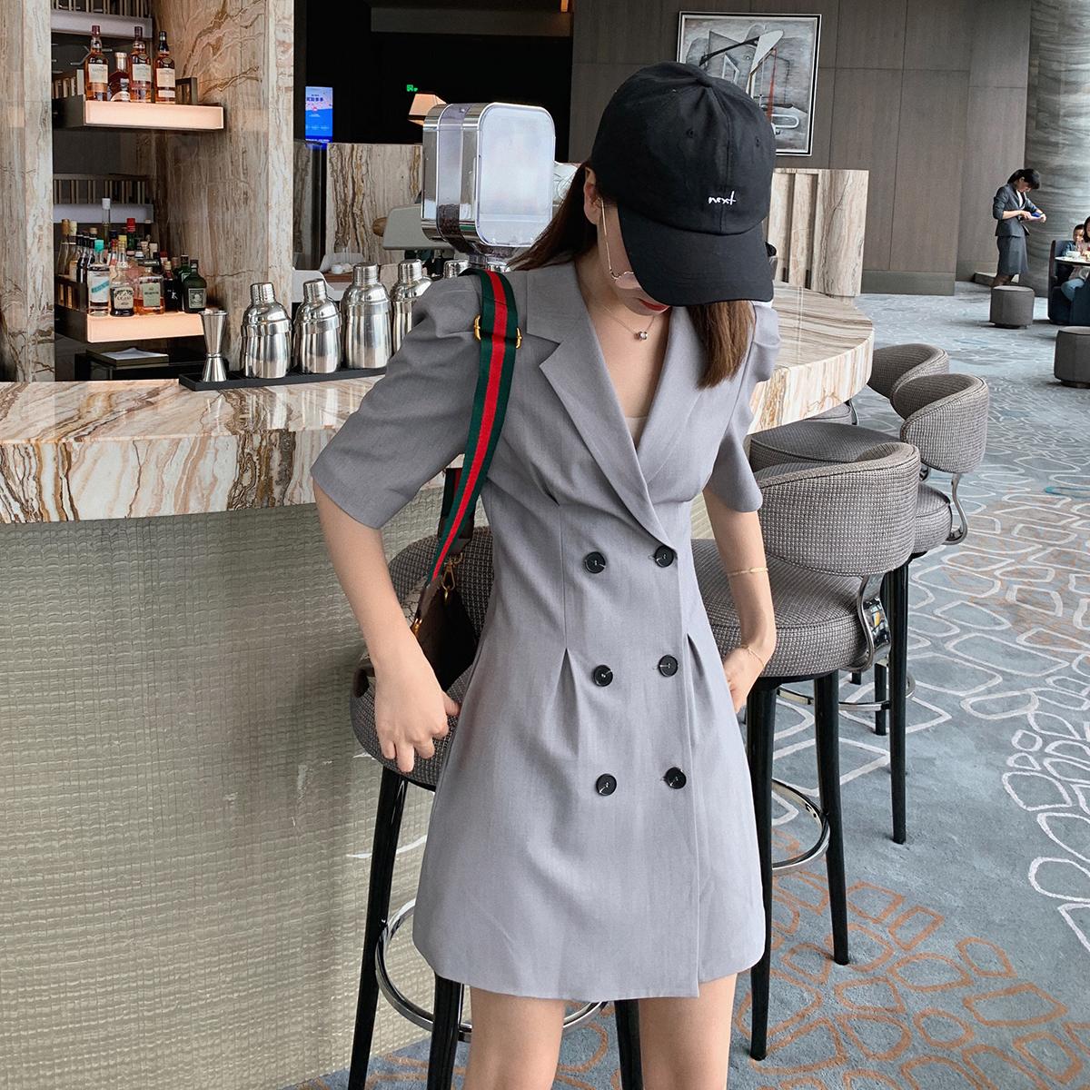 券后79.00元【限时秒杀】西装裙连衣裙收腰显瘦网红职业装气质修身小西服裙