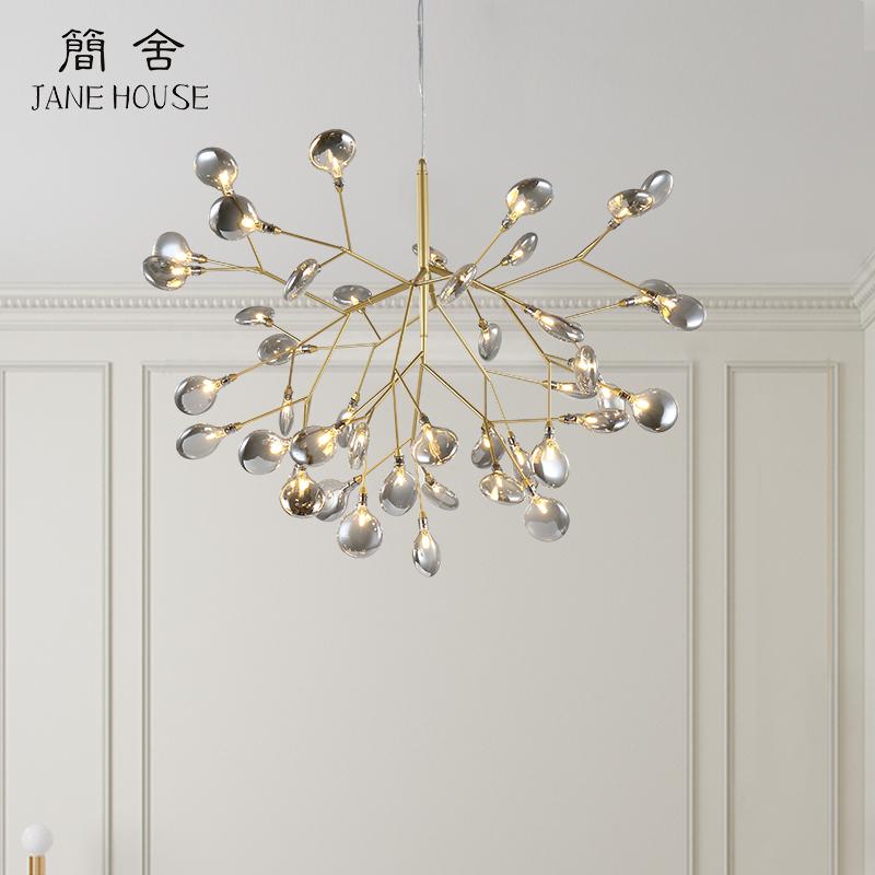 后现代创意餐厅吊灯led枝型萤火虫吊灯北欧艺术个性别墅客厅灯