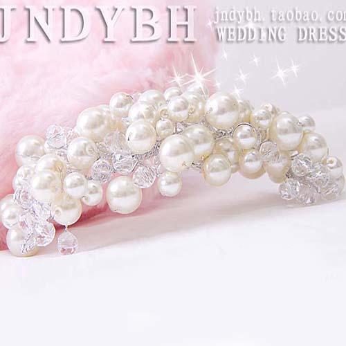 Расширенные аксессуары жемчужина для новобрачных диадемы, Свадебные диадемы волос Аксессуары Crystal JN35