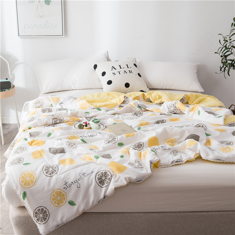 Air conditioner washed cotton summer cool quilt summer quilt single student double thin quilt spring and autumn quilt core machine washable