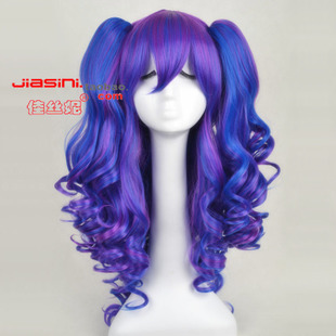 LOLITA Lolita color gradient split the tiger s mouth clip long hair high temperature wire cosplay wig