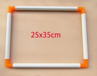 35cm 夹式 中号25 绣绷 绣花绷 40厘米 十字绣绷 手持绣框 组好30