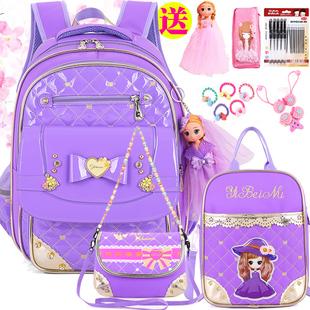 小學生書包女孩女生1-3-6年級四兒童公主12週歲5可愛韓版女童揹包