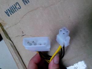 促销电脑周边线材大4p转方4p连接线P4转接线台式主机CPU供电