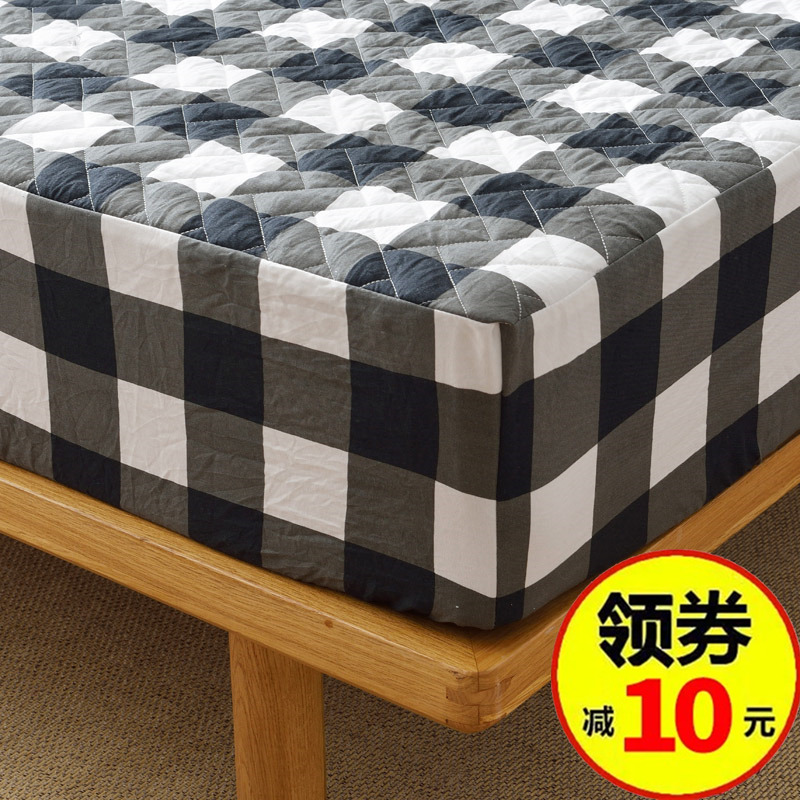 全棉床笠�渭��棉床套床罩席�羲急Wo套加厚�A棉床�|套全包可拆卸