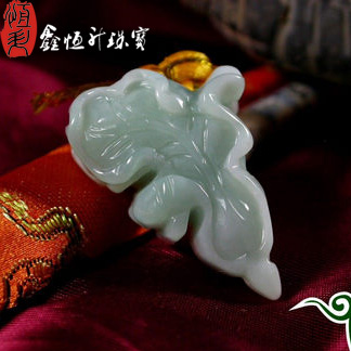 Jewelry necklace, natural Myanmar jade pendant, female fortune calling pendant, goods a, jadeite jade, cabbage Pendant with certificate