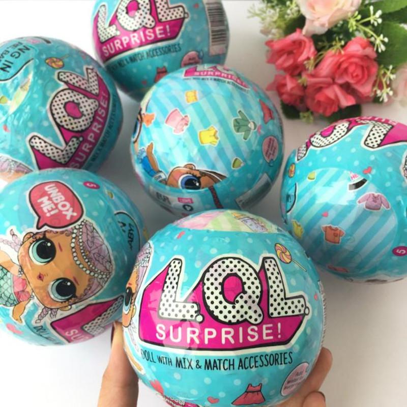 驚喜娃娃1代LOL SURPRISE可噴水拆蛋芭比娃娃驚喜球蛋糕女孩玩具