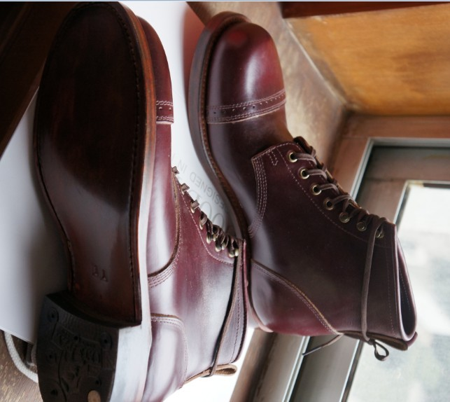a888ca12860 Julian (RRL paragraph ) bowery boots Beckham limited edition models upgrade  cherry red , the ultimate classic