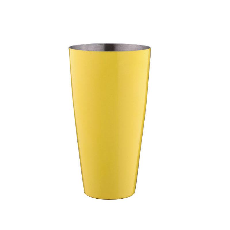 特价 不锈钢高级调酒器 摇酒壶 奶茶店 酒吧专用 黄色烤漆雪克杯