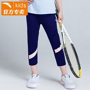 安踏童装女童运动裤2019夏季新款儿童中小童七分裤短裤36829784