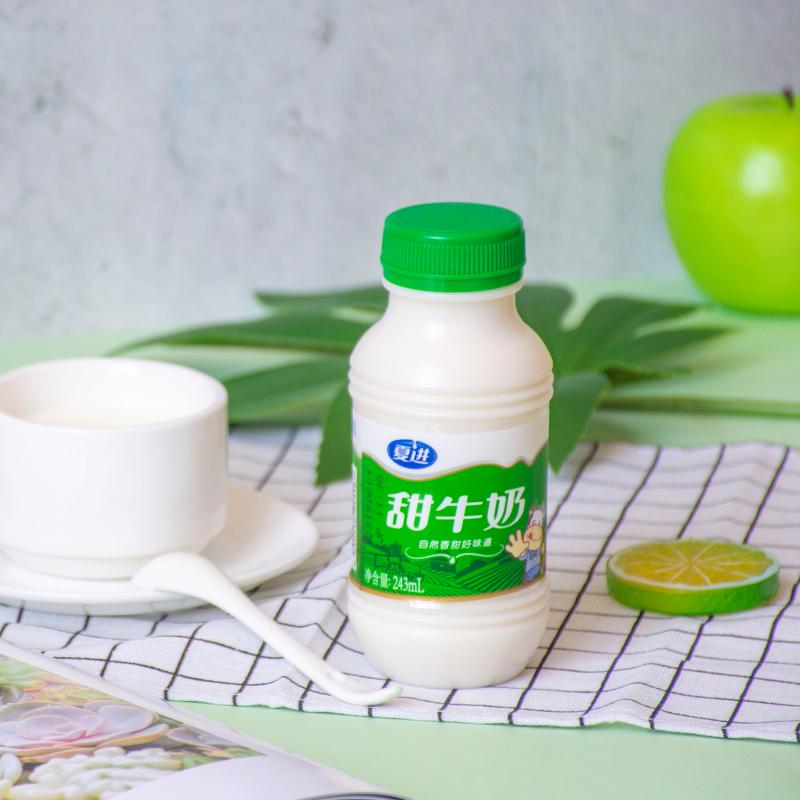 夏进甜牛奶整箱15瓶装243ml网红少女孕妇学生营养早餐奶儿童牛奶