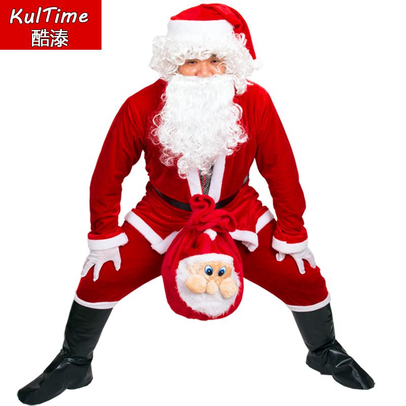 Санта-клаус одежда взрослый мужчина ребенок рождество одежда бархат рождество одежда рождество мужской и женщины установите ворсинка край