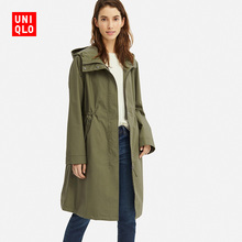 Women's BLOCKTECH Long Hooded Coat 414193 Uniqlo UNIQLO