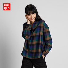 Flannel checked half-necked blouse (long sleeves) 421714 Uniqlo